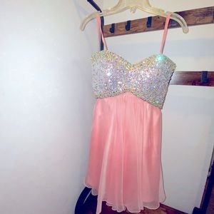 Pink Princess Rhinestone Dress
